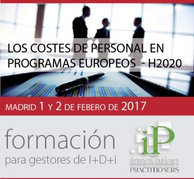 Los costes de personal en programas Europeos – H2020